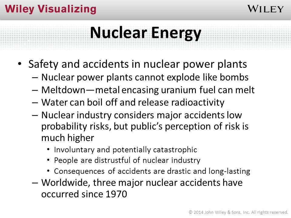 Nuclear Energy Safety and accidents in nuclear power plants