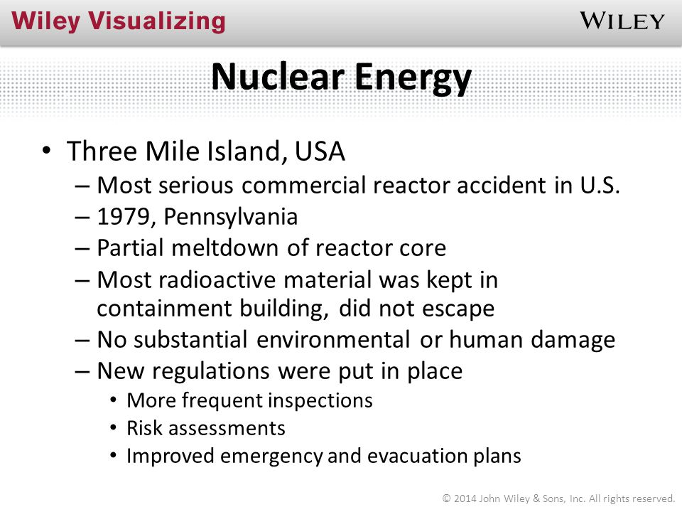 Nuclear Energy Three Mile Island, USA