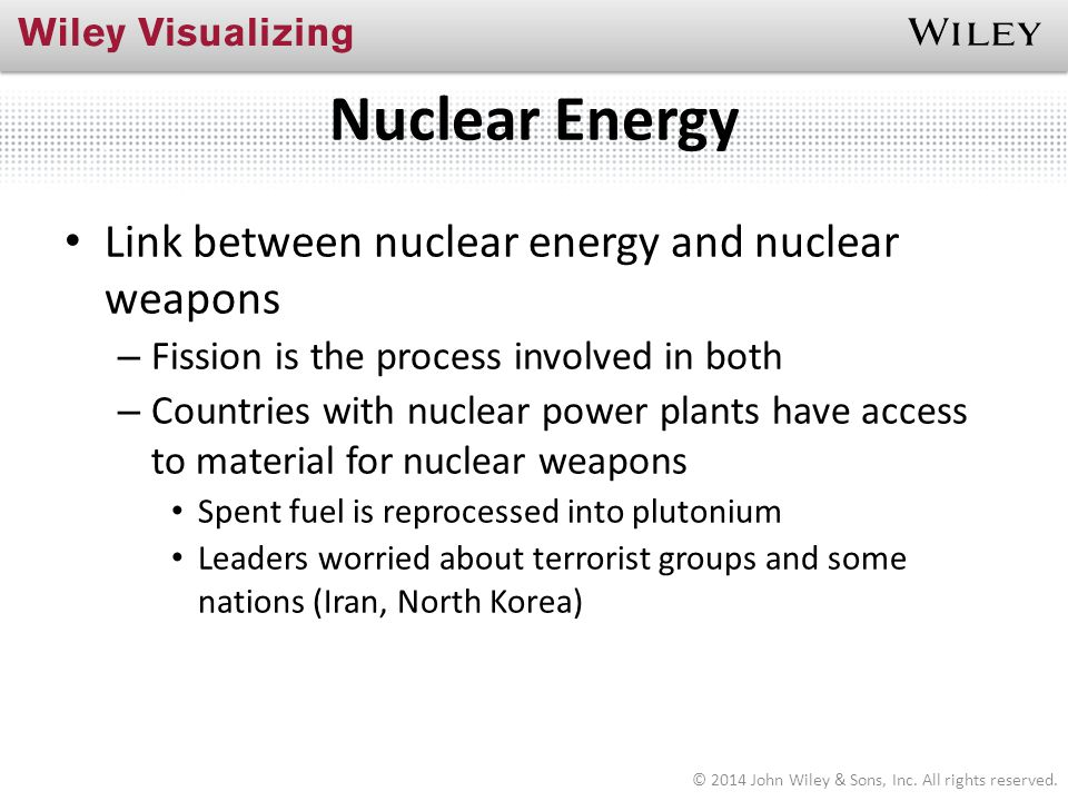 Nuclear Energy Link between nuclear energy and nuclear weapons
