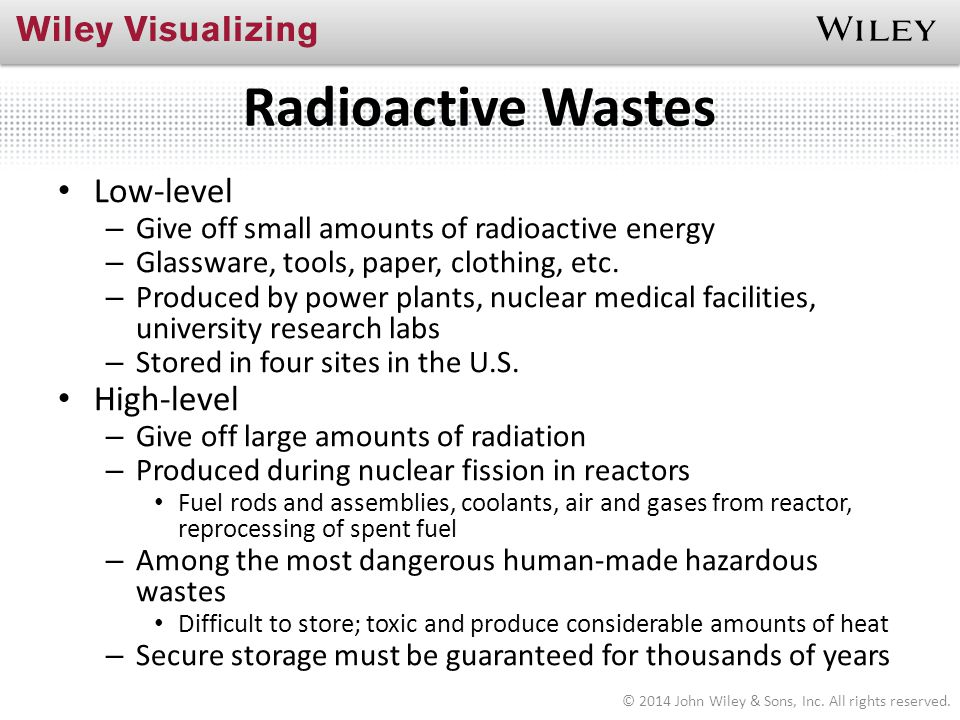 Radioactive Wastes Low-level High-level