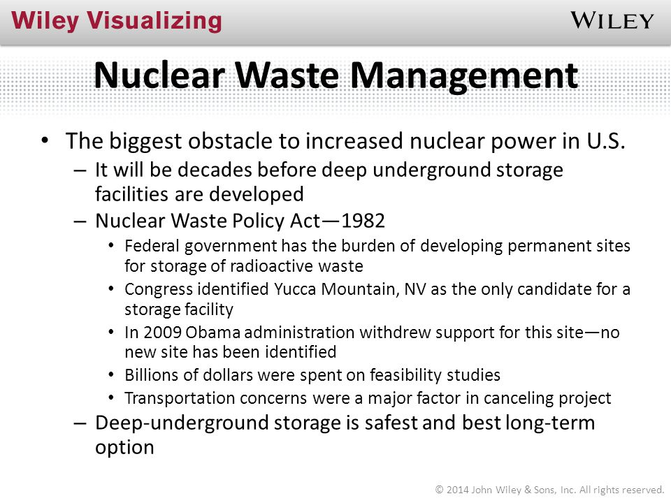 Nuclear Waste Management