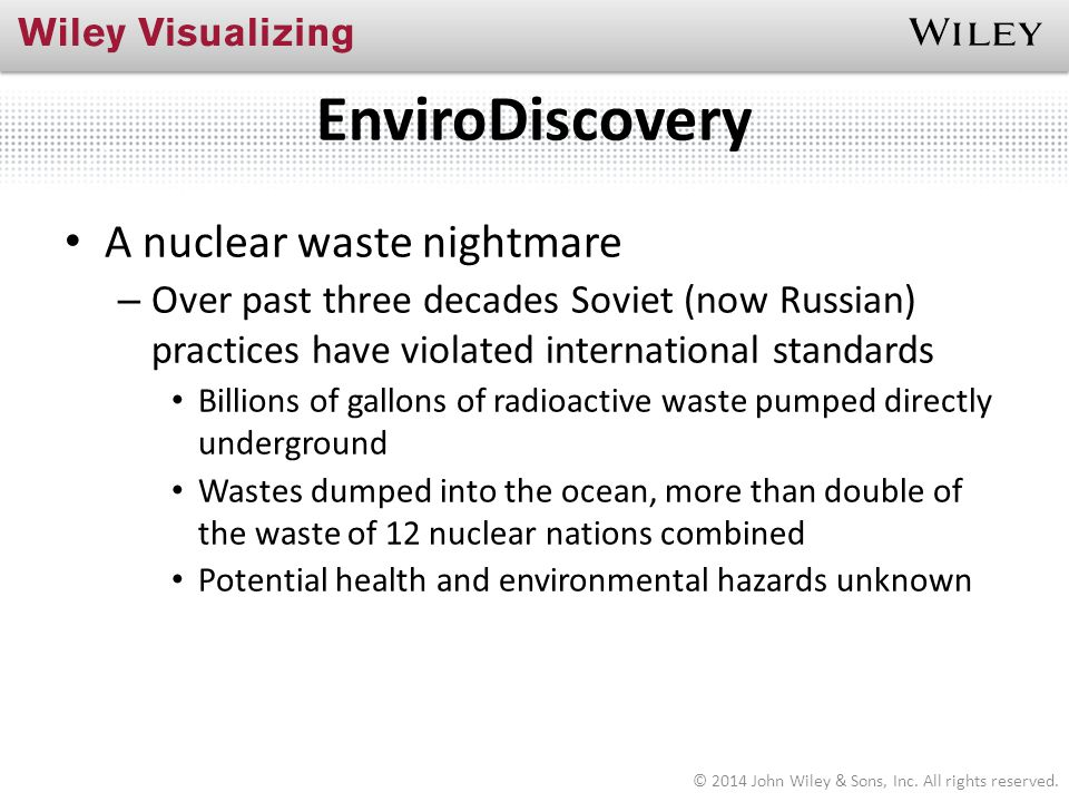 EnviroDiscovery A nuclear waste nightmare