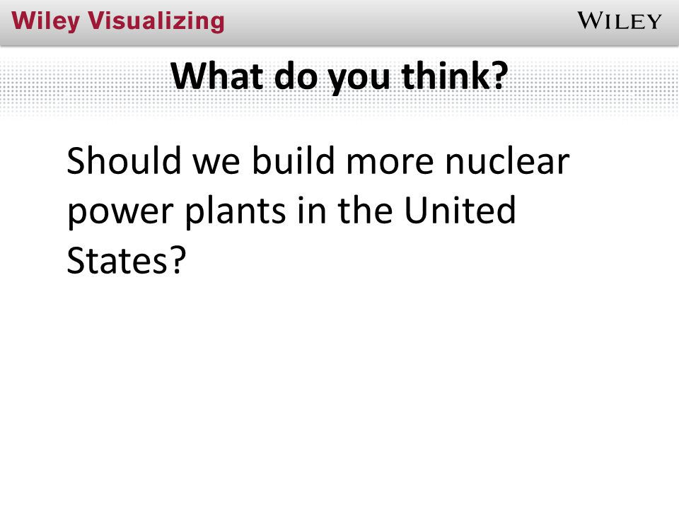What do you think Should we build more nuclear power plants in the United States