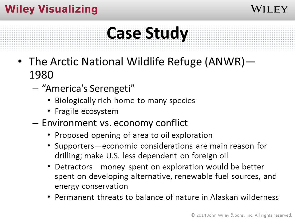 Case Study The Arctic National Wildlife Refuge (ANWR)— 1980