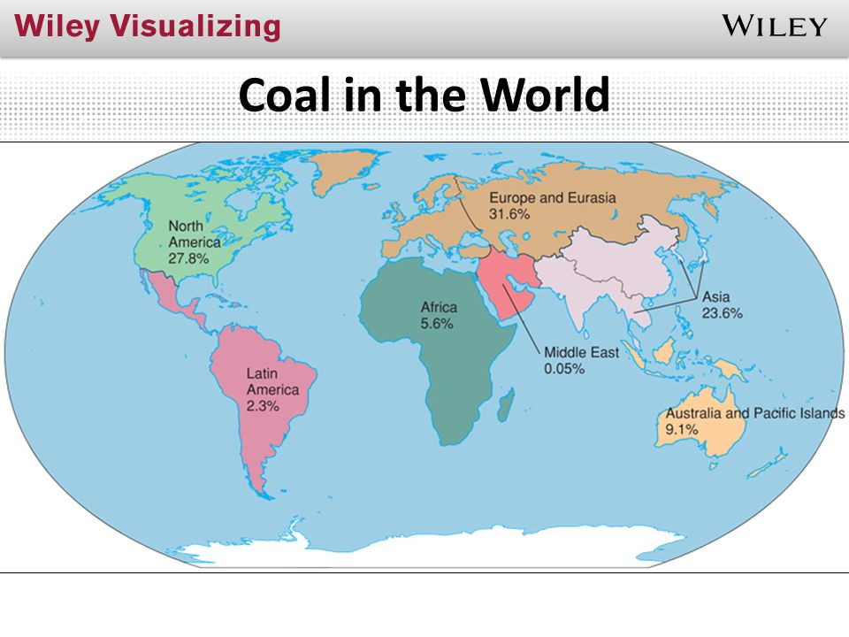 Coal in the World Where in the world is coal found