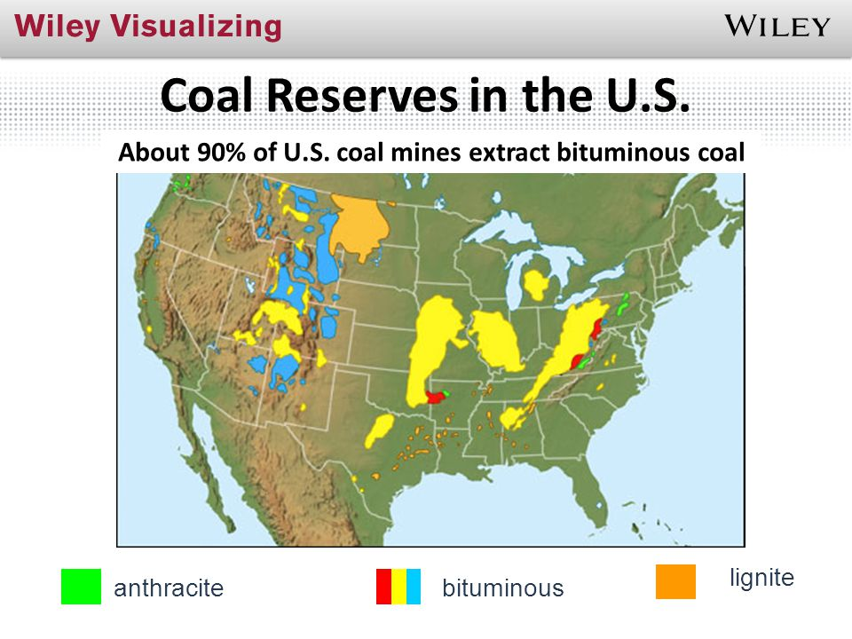 About 90% of U.S. coal mines extract bituminous coal