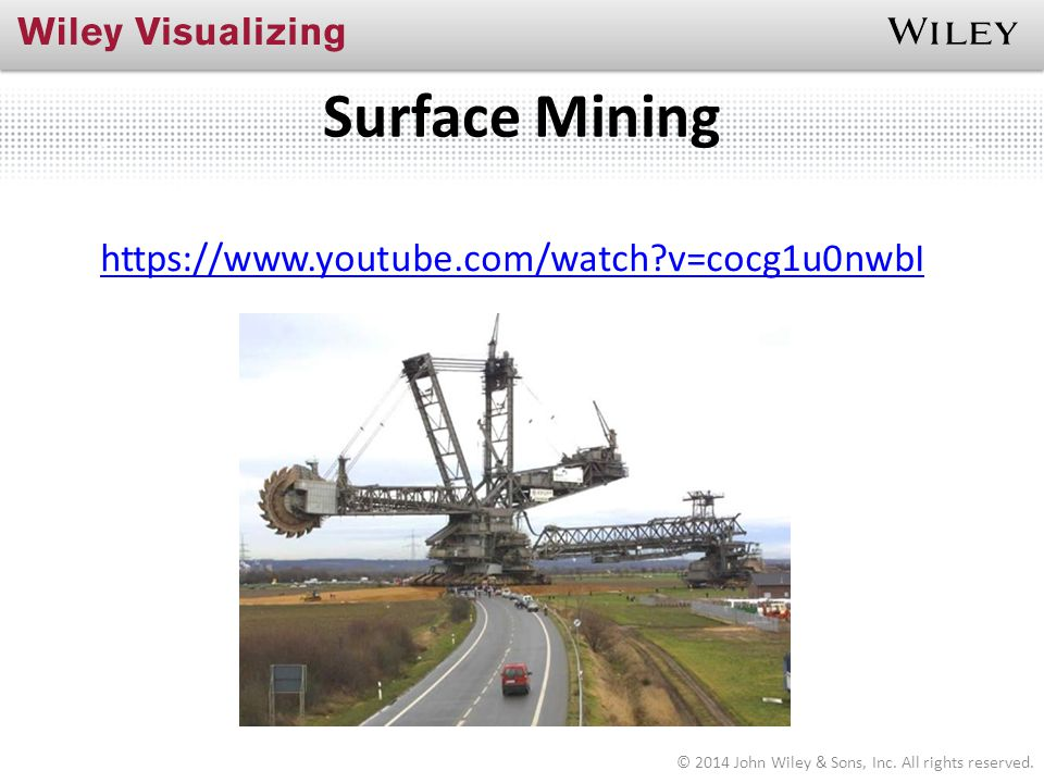 Surface Mining https://www.youtube.com/watch v=cocg1u0nwbI