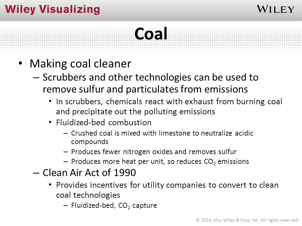 Coal Making coal cleaner