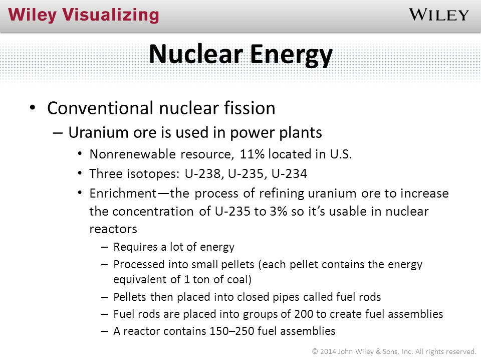 Nuclear Energy Conventional nuclear fission