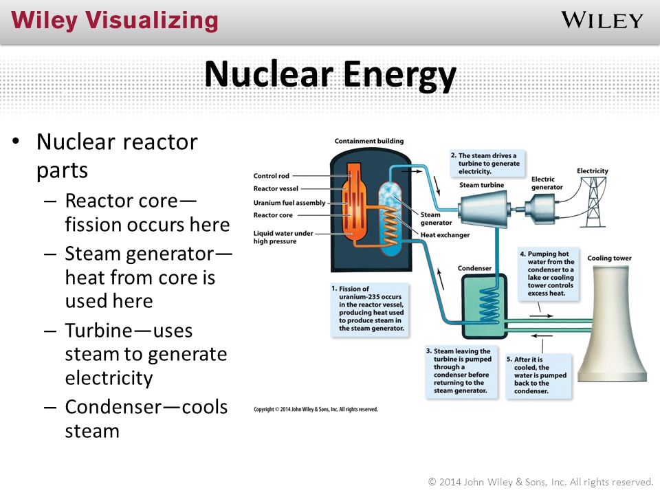 Nuclear Energy Nuclear reactor parts Reactor core—fission occurs here