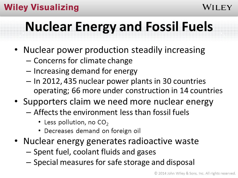 Nuclear Energy and Fossil Fuels