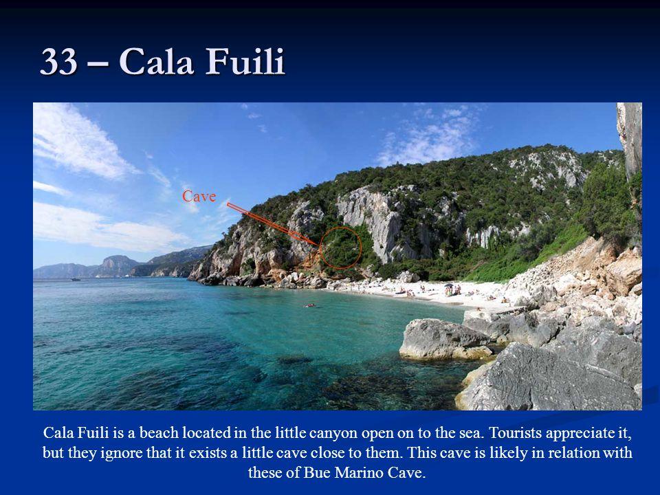 33 – Cala Fuili Cave.
