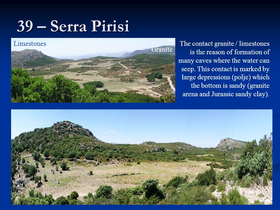 39 – Serra Pirisi Limestones