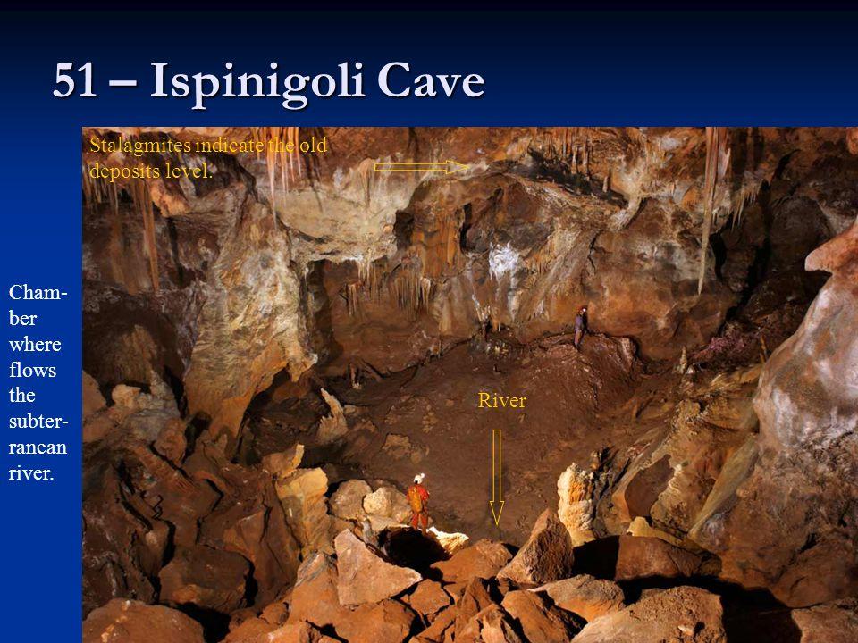 51 – Ispinigoli Cave Stalagmites indicate the old deposits level.
