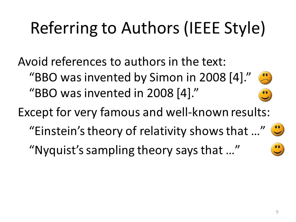 Referring to Authors (IEEE Style)