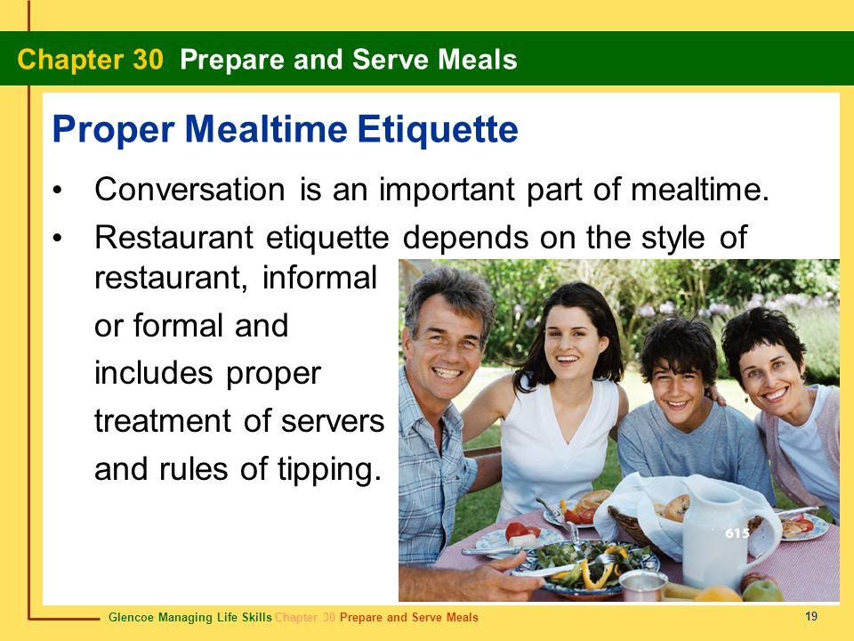 Proper Mealtime Etiquette