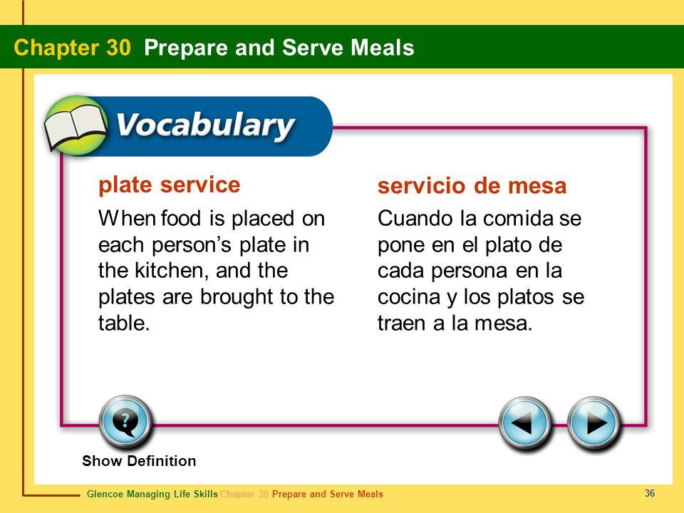 plate service servicio de mesa