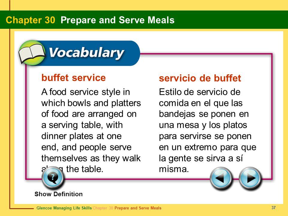 buffet service servicio de buffet