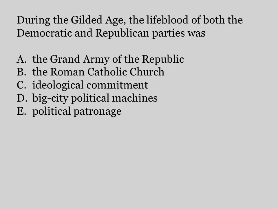 the Grand Army of the Republic the Roman Catholic Church