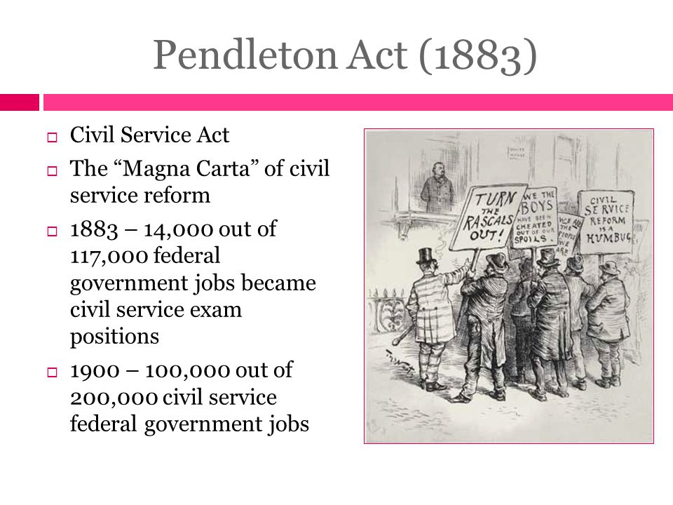 Pendleton Act (1883) Civil Service Act