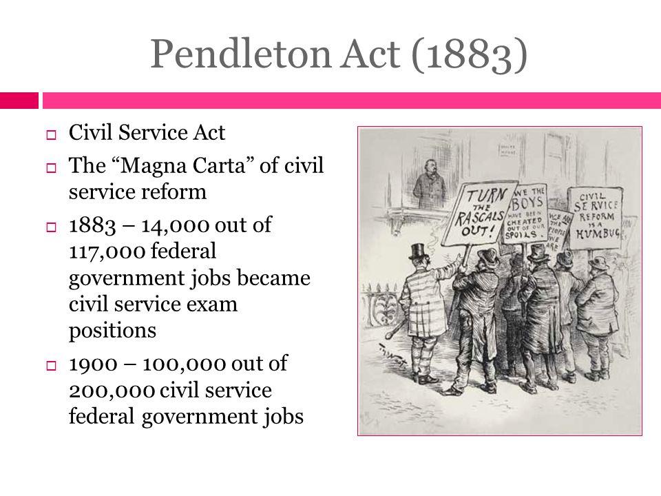Pendleton Act (1883) Civil Service Act