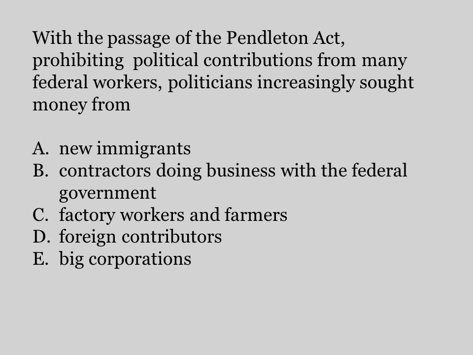 contractors doing business with the federal government