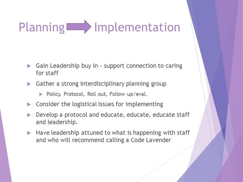 Planning Implementation