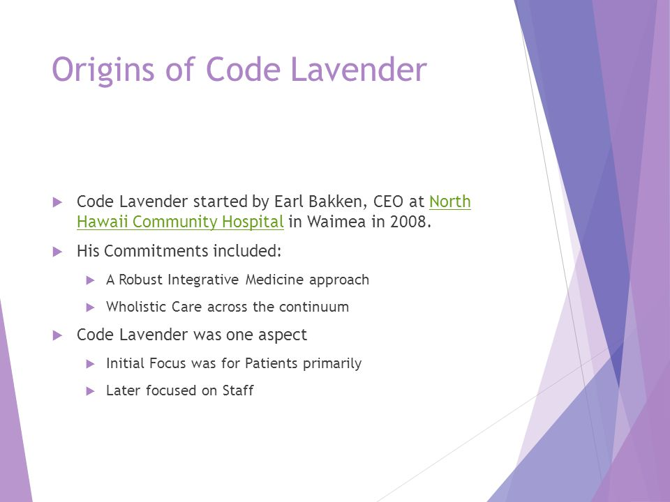 Origins of Code Lavender