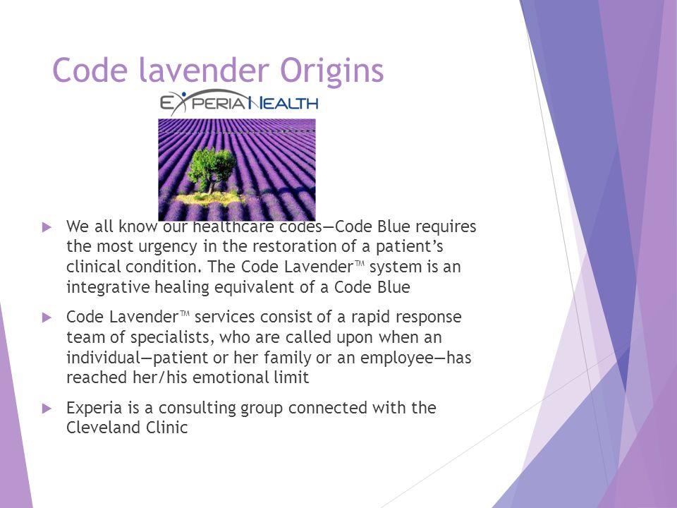 Code lavender Origins