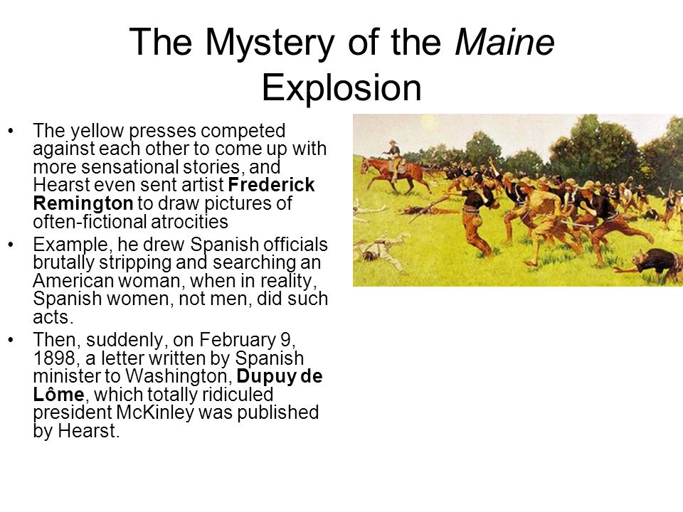 The Mystery of the Maine Explosion