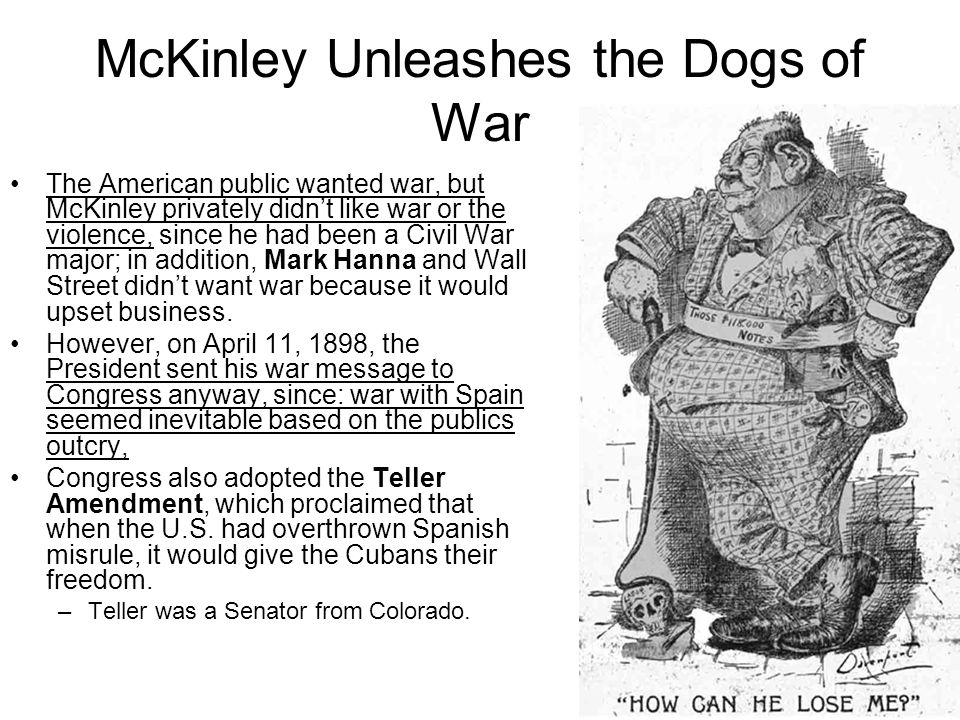 McKinley Unleashes the Dogs of War