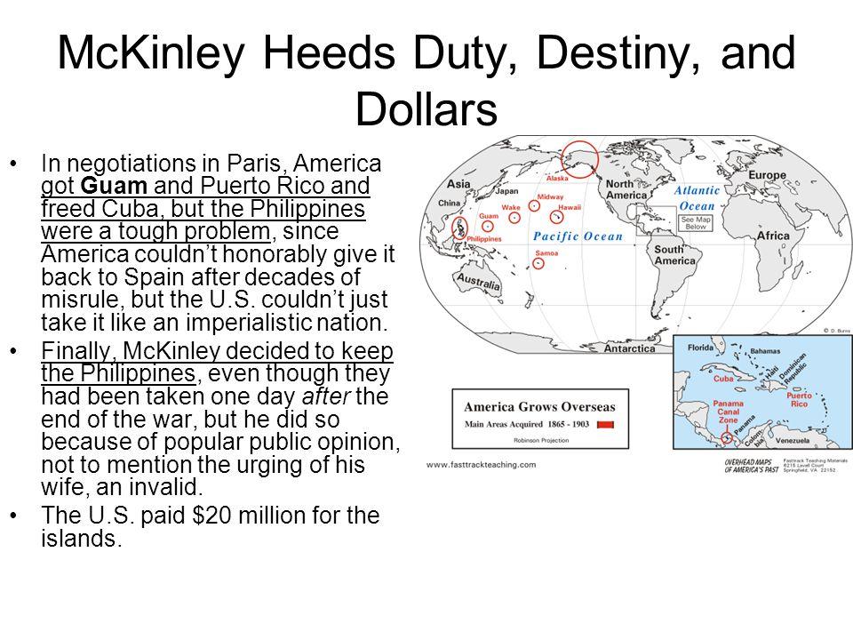 McKinley Heeds Duty, Destiny, and Dollars