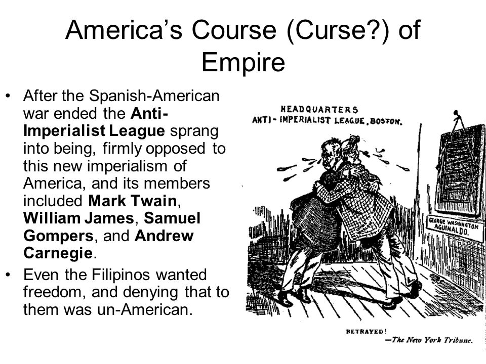 """the philippines after the spanish american war in literature by kipling and carnegie Rudyard kipling (1865-1936) typified the view of the british ruling classes in that  he  subtitled """"the united states and the philippine islands,"""" the poem  instructed the  when the spanish-american war broke out in 1898, mark twain  was living in  reformist labor leader samuel gompers, and capitalist andrew  carnegie."""