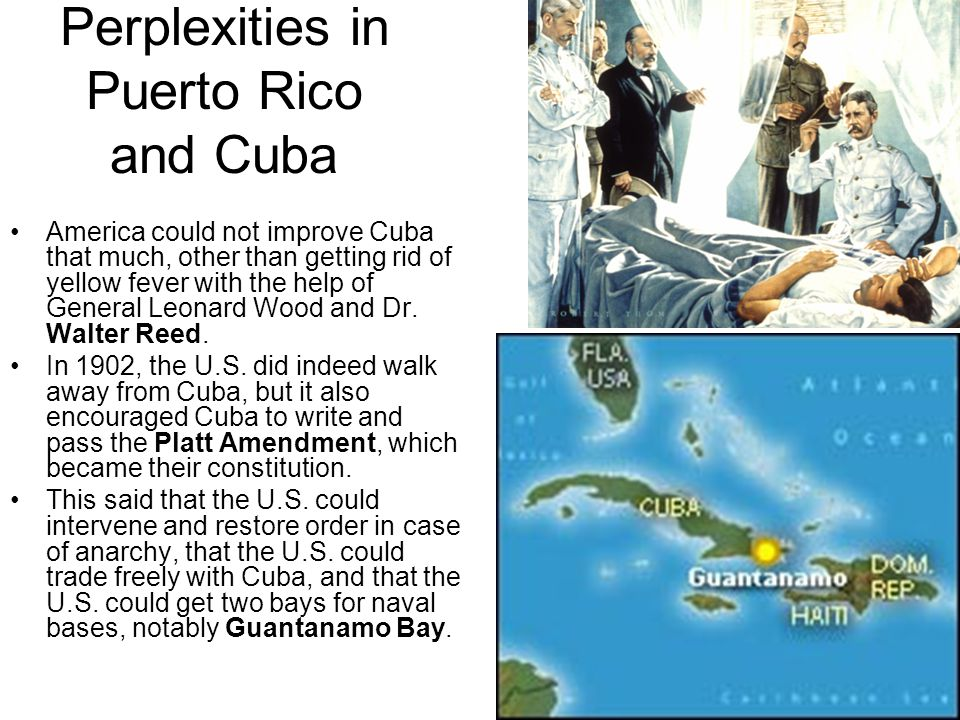 Perplexities in Puerto Rico and Cuba