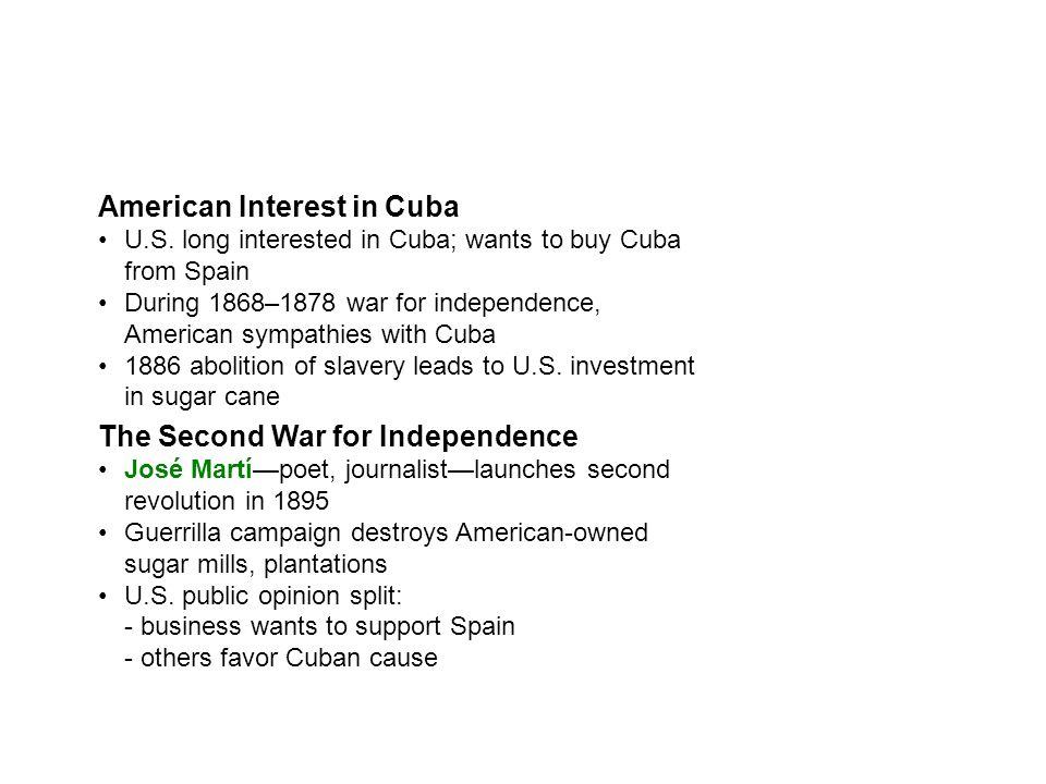 American Interest in Cuba