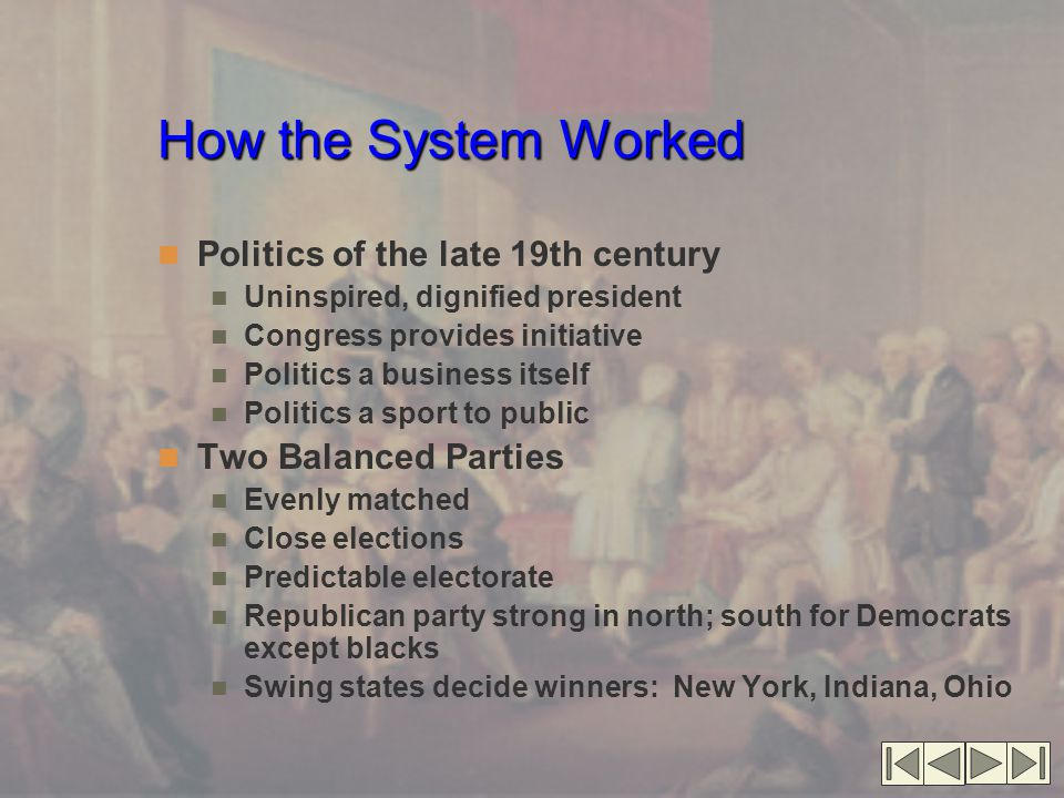 How the System Worked Politics of the late 19th century