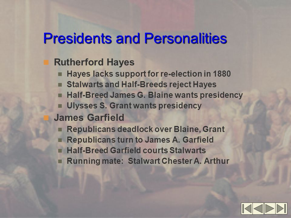 Presidents and Personalities