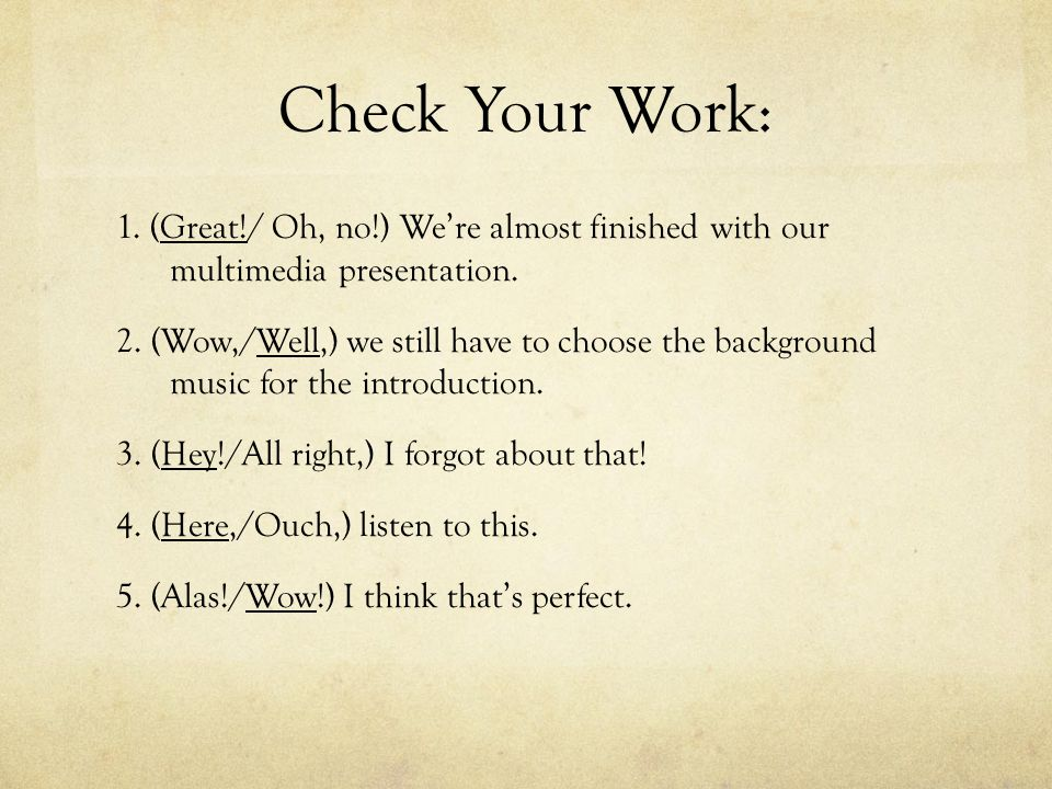 Check Your Work: