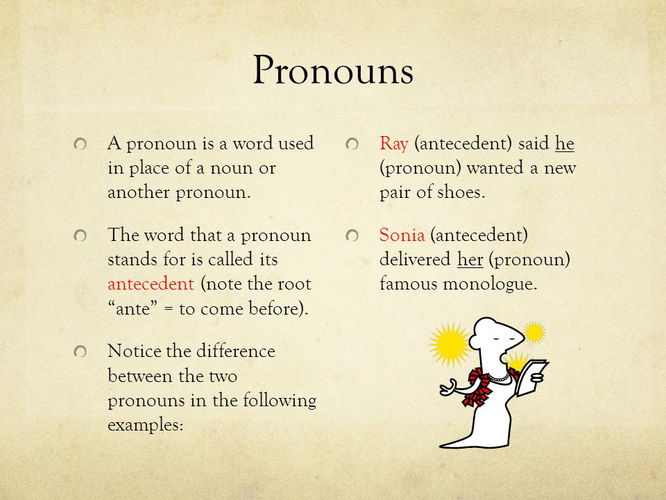 Pronouns A pronoun is a word used in place of a noun or another pronoun.
