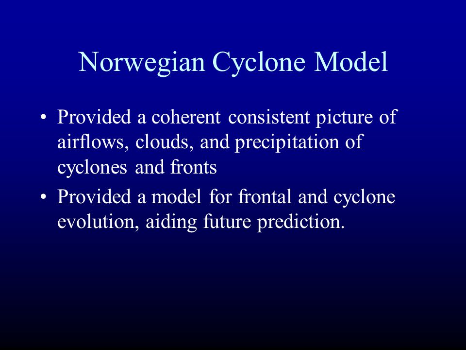 Norwegian Cyclone Model
