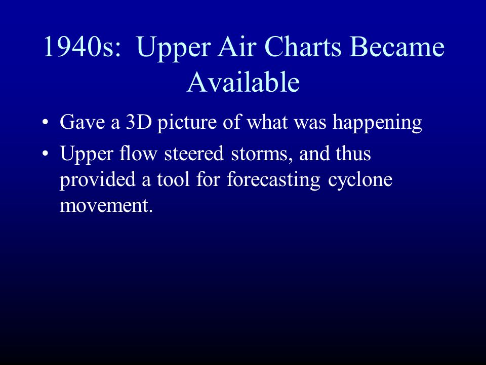 1940s: Upper Air Charts Became Available