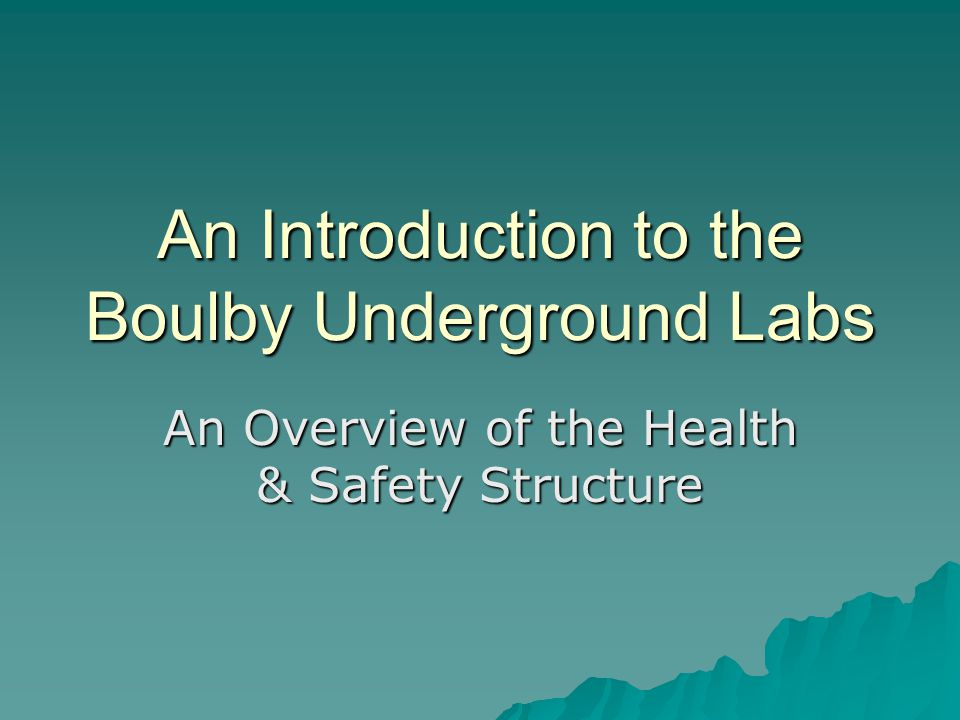 An Introduction to the Boulby Underground Labs
