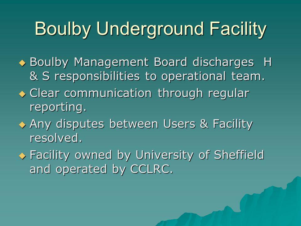 Boulby Underground Facility
