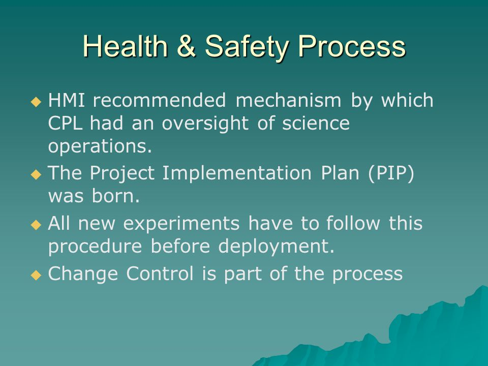 Health & Safety Process