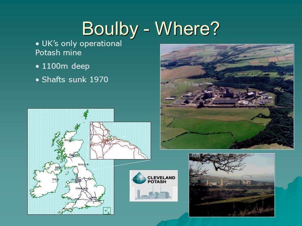 Boulby - Where UK's only operational Potash mine 1100m deep