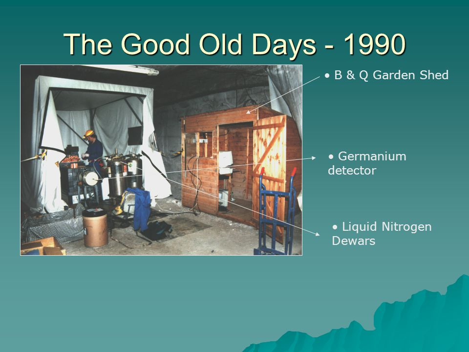 The Good Old Days - 1990 B & Q Garden Shed Germanium detector
