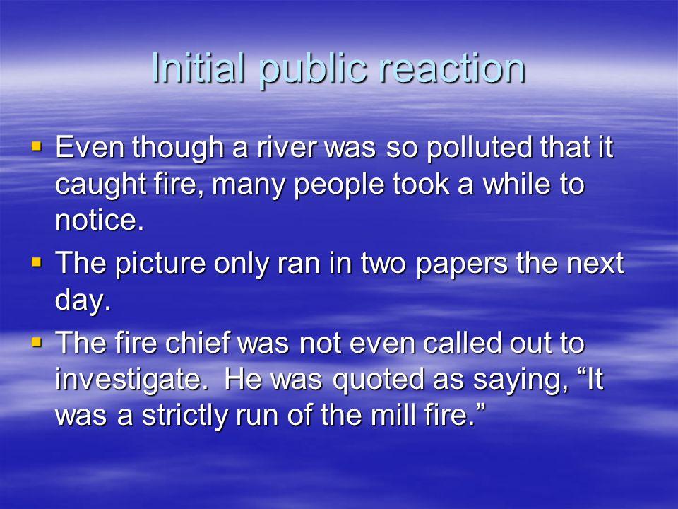 Initial public reaction