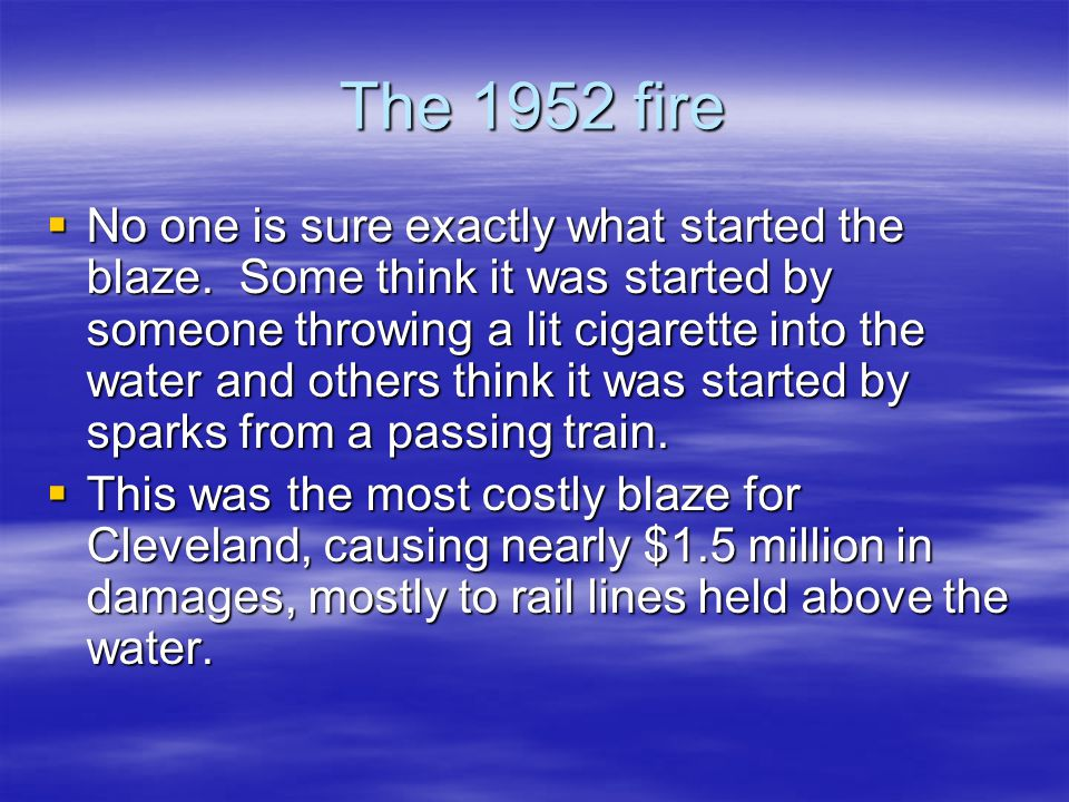 The 1952 fire