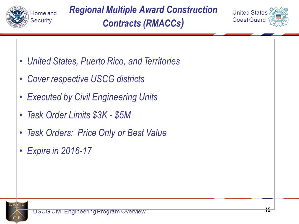 Regional Multiple Award Construction Contracts (RMACCs)