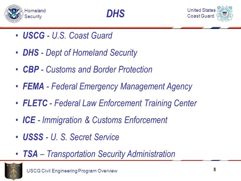 DHS USCG - U.S. Coast Guard DHS - Dept of Homeland Security